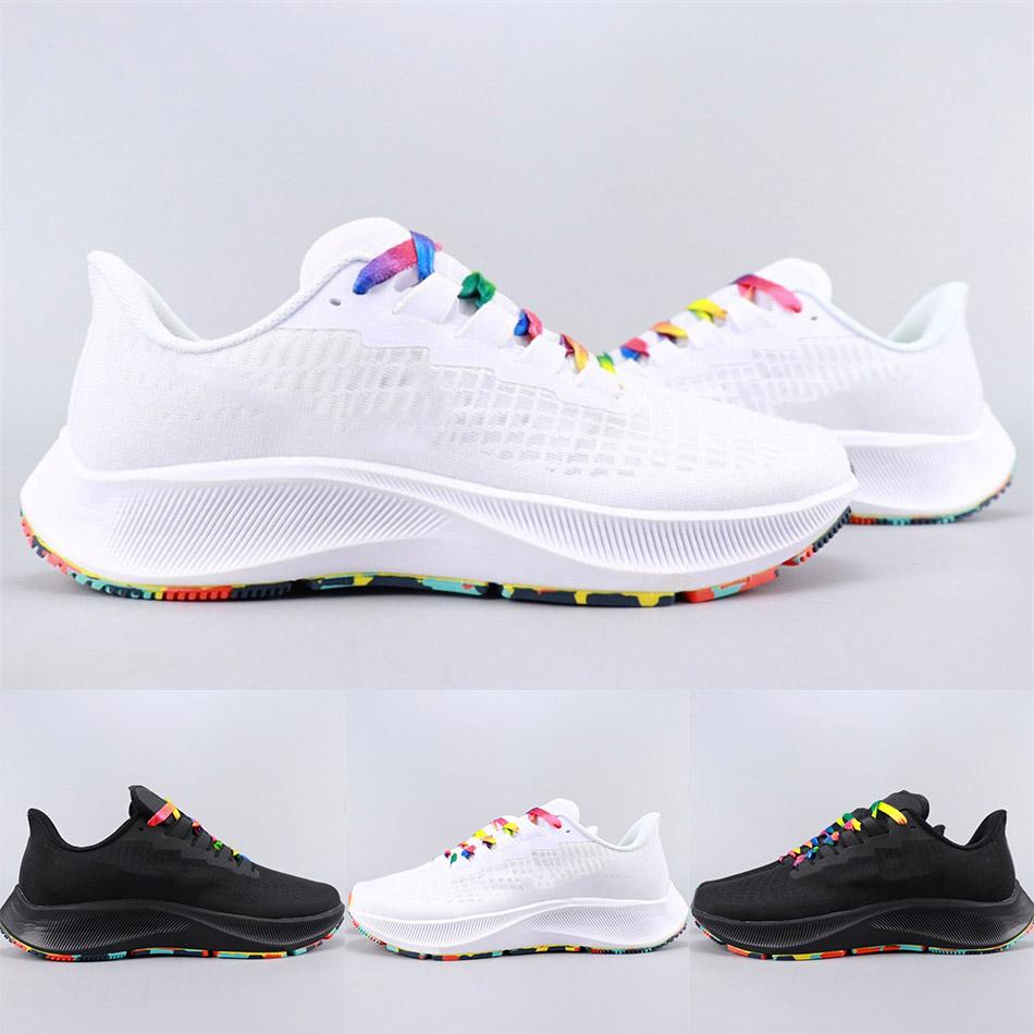 Hochwertiger Zoom 37 Turbo weißen Männer Schuhe Netzbreathable beiläufiger Sportschuh Tarnung Laufsohle laufen