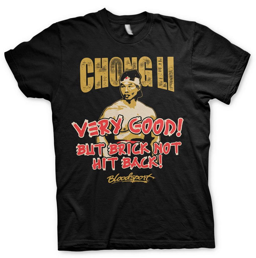 Licenza ufficiale T-shirt S-XXL taglie Maglietta casuale Stampa Moda Bloodsport Chong Li Uomo
