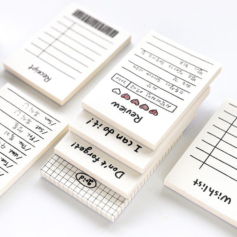 50 folhas Programação Diária criativa Memo Pad para Do List Tempo Fixo nota planner programação projeto Escola Escritório Produtos de papelaria