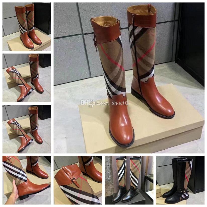 yuvarlak kafa kadınlar uzun Boots kadın martin gündelik vahşi kaymaz deri bayan bot kovboy SH02 BR1 eşleşen diz rengi üzerine Klasikler