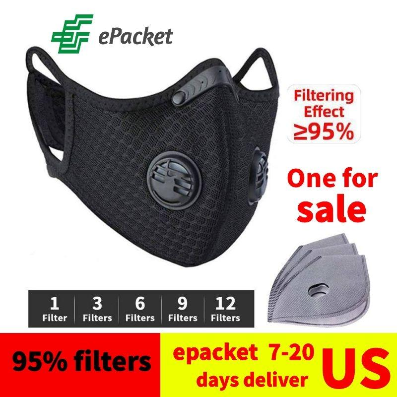 Cycling dust face mask Carbon Filter reusable facemask washable fashion cotton faces masks Masque Dhl free ship 7-10 days delivery