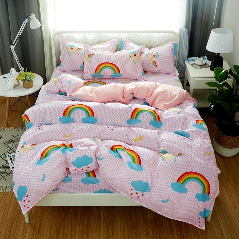 تعيين 50 5 الحجم 4PCS الكتان الشريط القلب السرير أسود / مجموعة غطاء لحاف السرير ورقة الرعوية غطاء AB الجانب حاف 2020