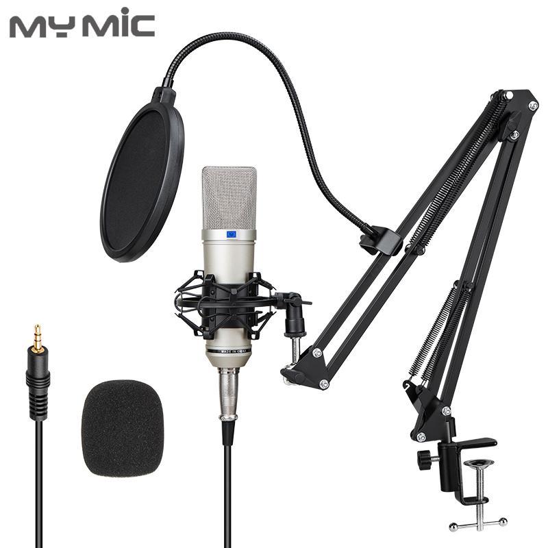 yayın için Ayarlanabilir stand ile My Mikrofon U87 Geniş Diyafram kondansatör kayıt mikrofon