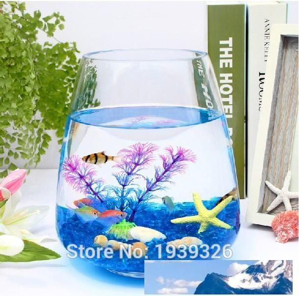 Festive 400g Colored Decorative Glass Marbles Irregular Beads Blue Glass Pebble Stones Aquatic Pets Fish Tank Garden Aquarium Decoration