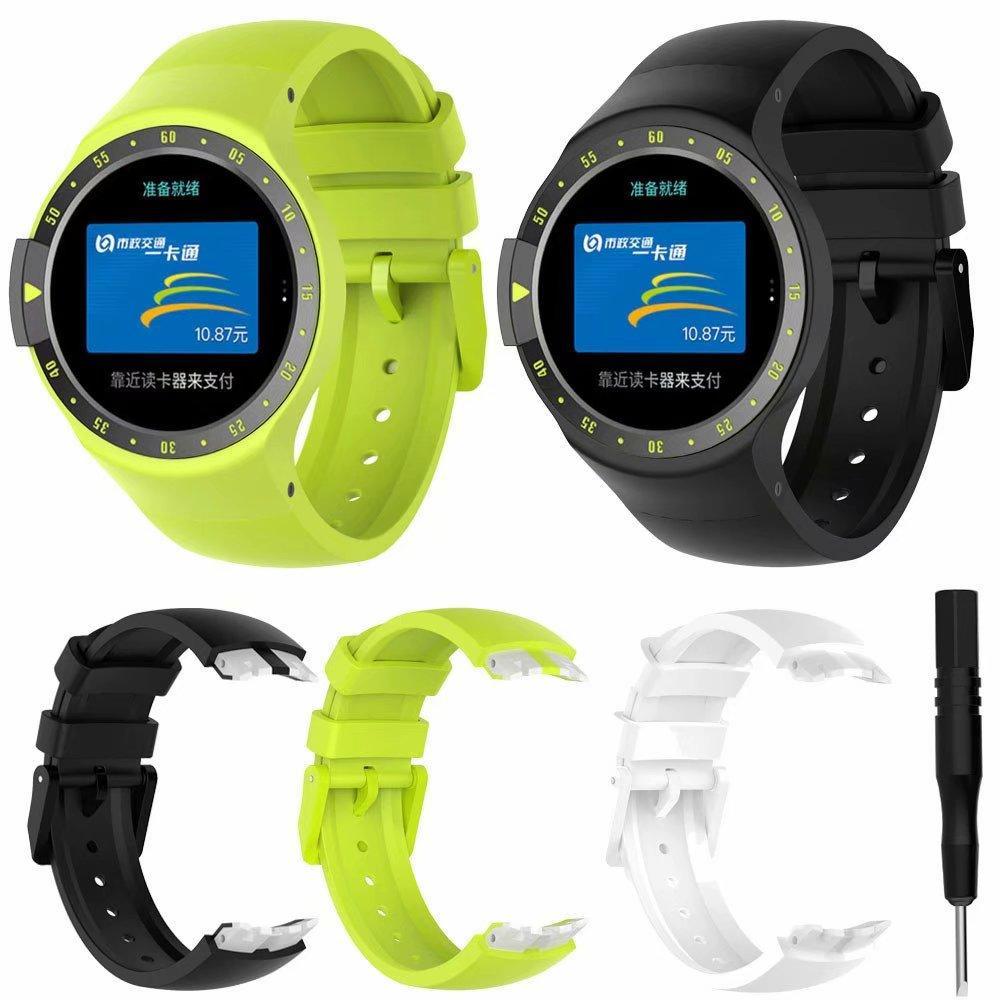 Силиконовые часы ремешок для Ticwatch S ремешок Мужчины / Женщины Спорт Замена браслет с металлической пряжкой Застежка пояса браслет