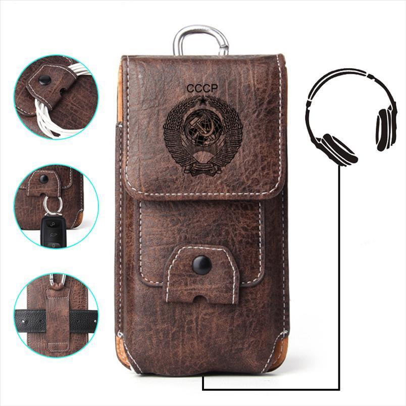 Per Fanny Pack BACK PHOTE TELEFONO XS Borsa per 8 x 6 7 Caso Plus Pelle Pelle Iphone Copertura del telefono URSS REDMI 5 UEVOQ