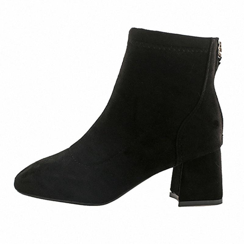 Frauen Winterstiefel kurze Art und Weise warme Plüschrückenreißverschluss-Absatzfrauenwinterstiefel zapatos de mujer heißen Verkauf Schuh PSHA #