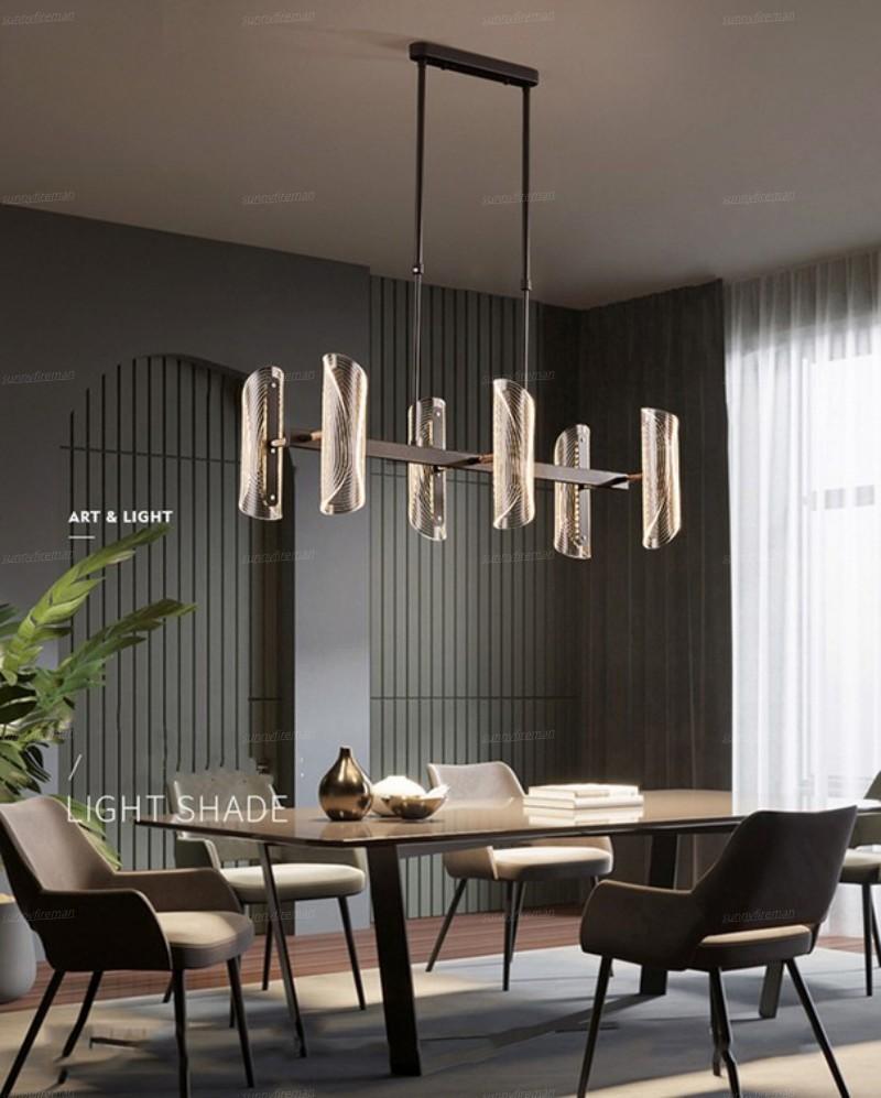 moderna iluminação lustre levou para sala de estar quarto cozinha do restaurante lustres pingente preto lâmpadas de suspensão interiores
