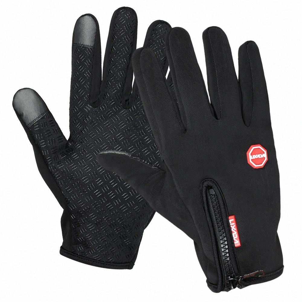 Lixada Touchscreen Ciclismo Luvas de inverno à prova de vento Outdoor Sports equitação Mão aquecedores Skiing Motorcycle Racing Gloves MGWA #