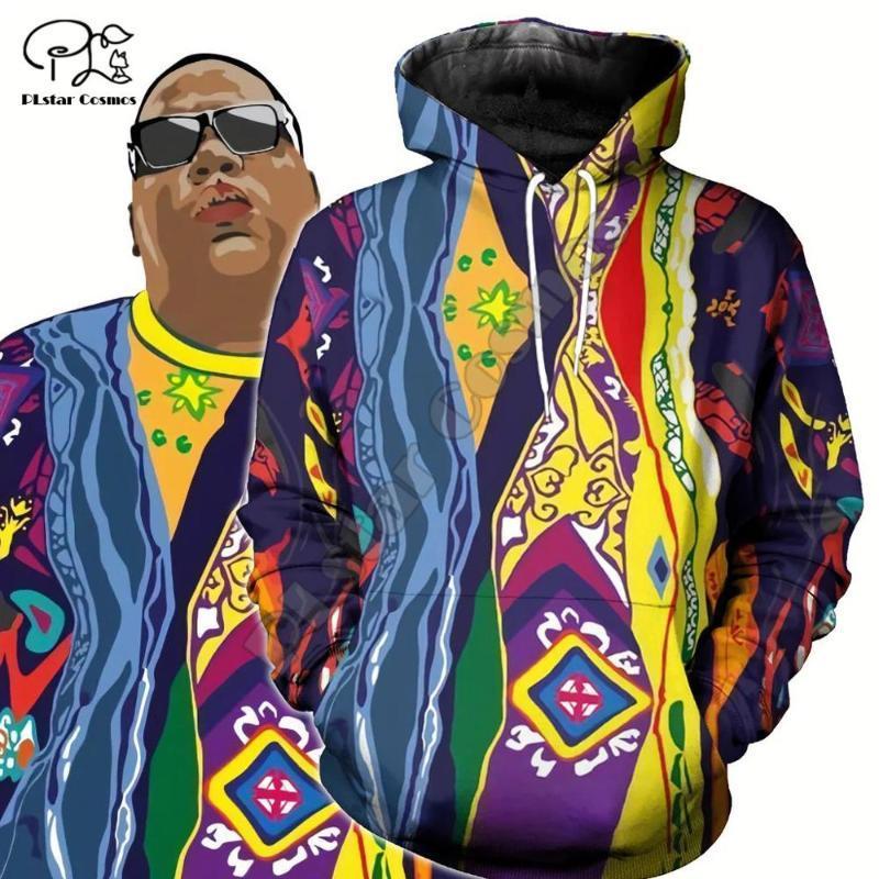 Unisexe Harajuku The Notorious B.I.G. imprimer les femmes autochtones streetwear Pull 3D sweat à capuche rappeur Biggie Smalls Sweat