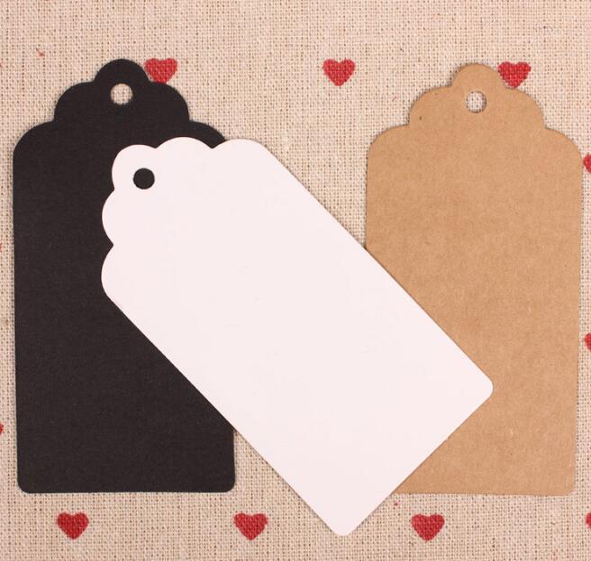 Embalagem Etiqueta Kraft Paper Tag DIY vieira etiqueta do presente de casamento Decoração Tag Formato de Estrela Coração Black White Brown
