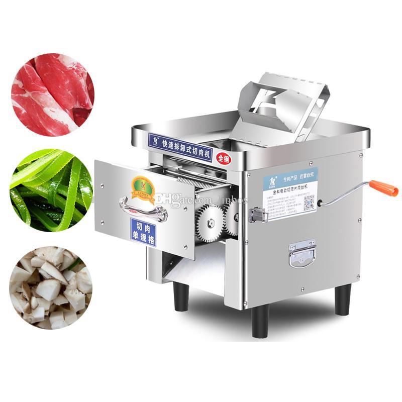Elektrik el çok fonksiyonlu Kıyma makinesi 850W parçalayıcı domuz için çift amaçlı Et kesici makinesi krank