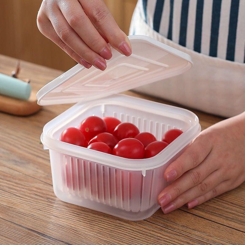 caixa de armazenamento de cozinha caixa de fruta de plástico 20200911 Cebola verde preservação