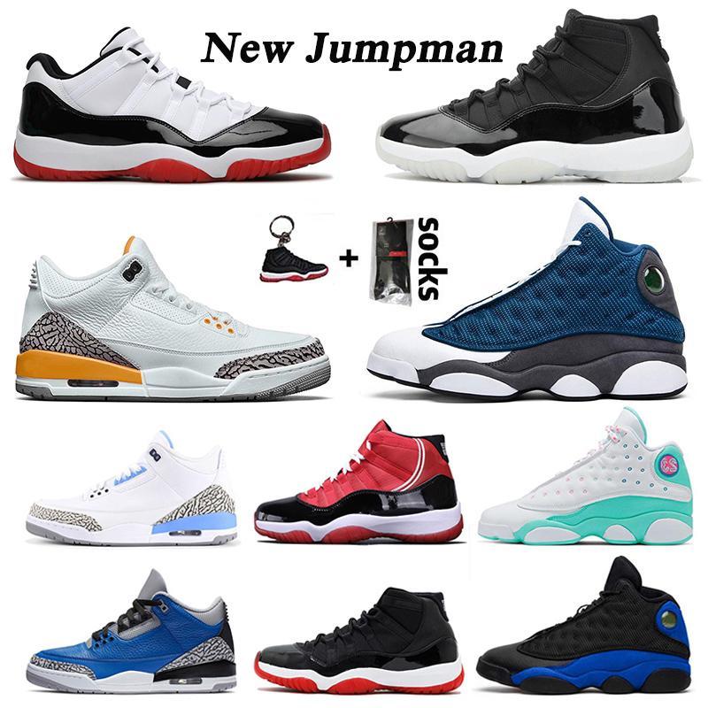Erkek Ayakkabı 25. Yıldönümü 2020 Basketbol Ayakkabı Yeni Düşük Concord 11 Bred Yüksek Erkek Bayan Sneakers Flint 13 Kap ve Kıyafet Alan Reçeli