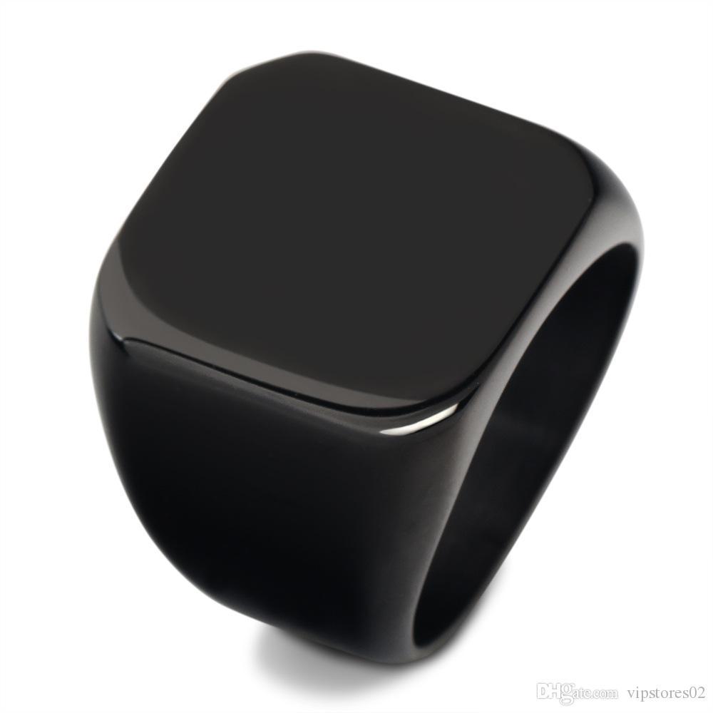Vier Farbe Luxus Männer Männliche Ring Schmuck Titan-Stahl Domineering Partei-Verein-Männer Domineering Ring Vintage-Schmuck