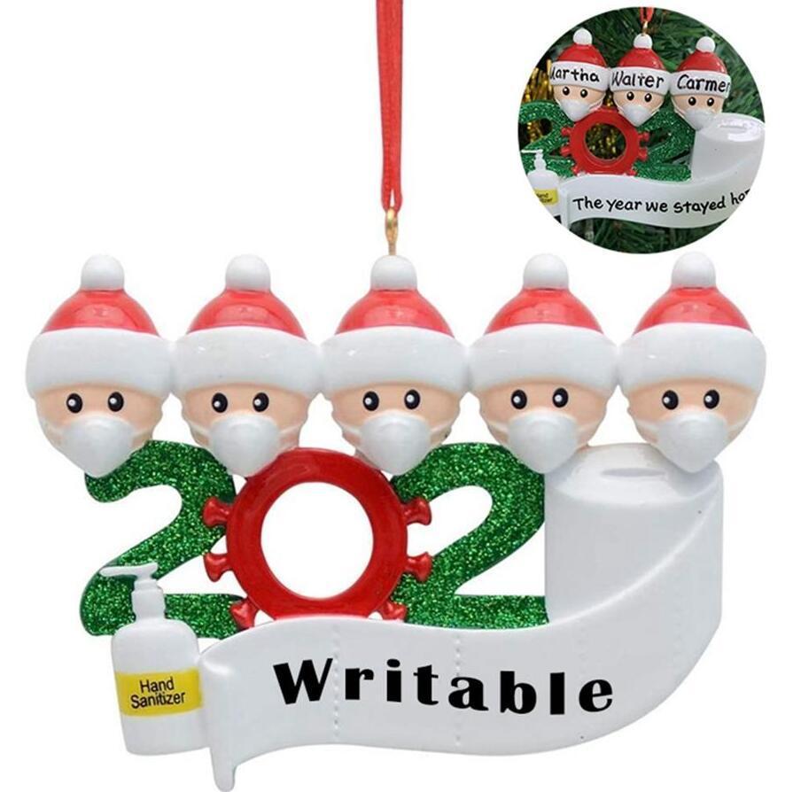 Quarentena DIY assinatura Natal aniversários decoração festa personalizada distanciamento de família suspensão decoração de ornamento