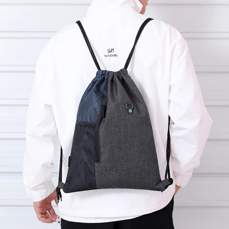 Outdoor-Taschen Mode Casual Unisex-Bündel Seil Sport Rucksack Schule Reise Strand Wasserdichte Kordelzug-Tasche