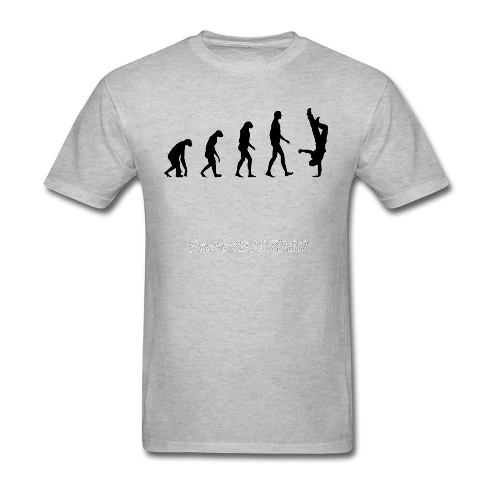 Evrim Gangsta Rap Tişörtlü Özel Kısa Kollu Elbise Pop Car-stil erkekler için O-boyun Pamuk 3XL T Gömlek