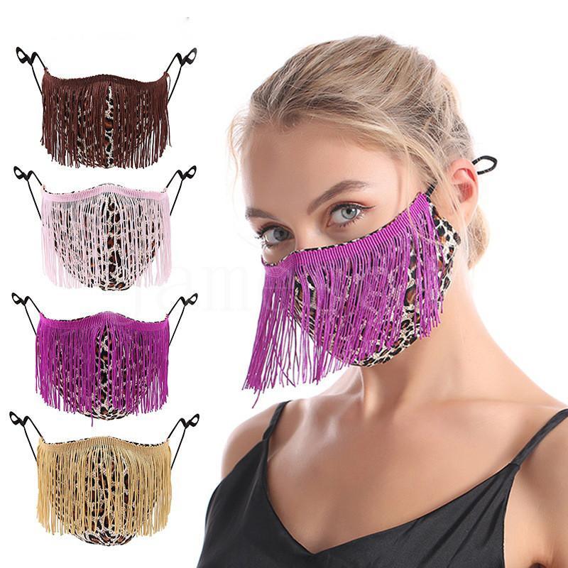 Adult European and American new color tassel mask Anti-dust masks women and girl decorate Designer Masks DA996
