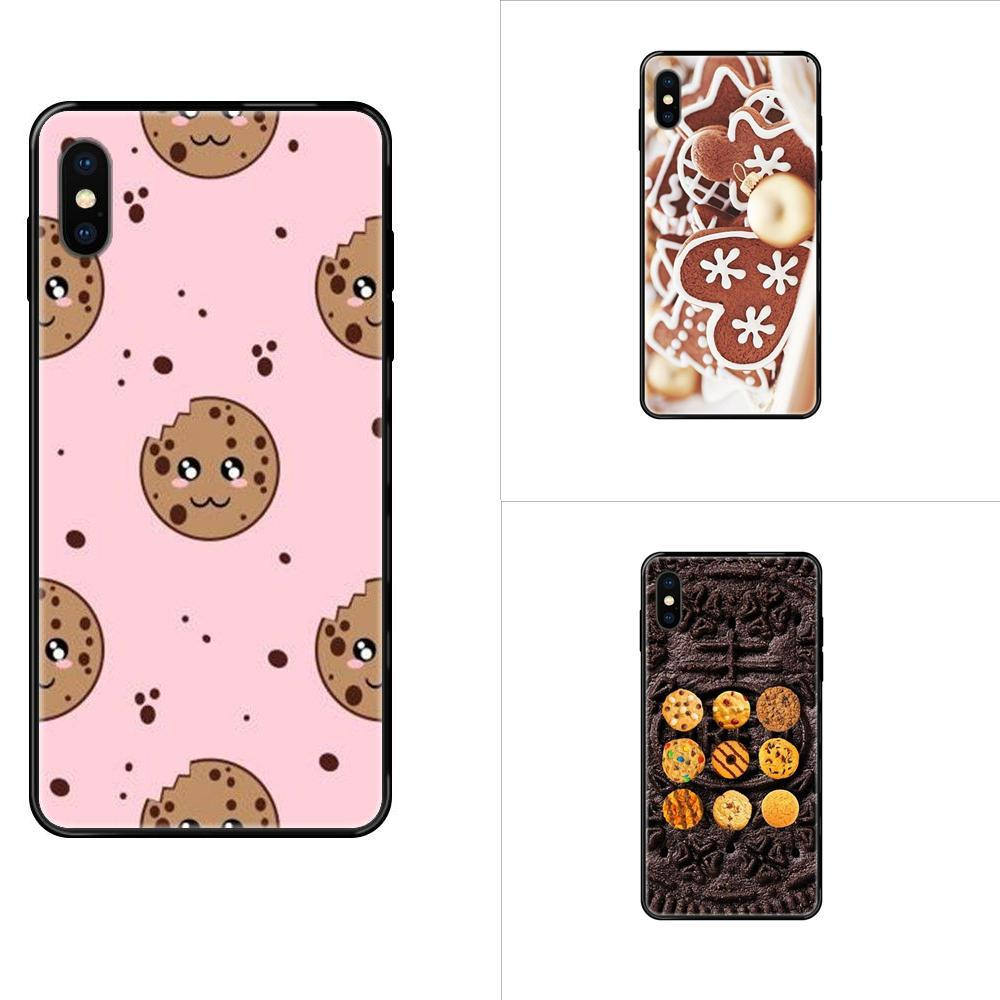 Comida deliciosa Biscuits Chocolate para Apple iPhone 11 12 Pro XS Max XR X 8 7 6 6S Mais 5 5S SE macio TPU 2017 New Arrival