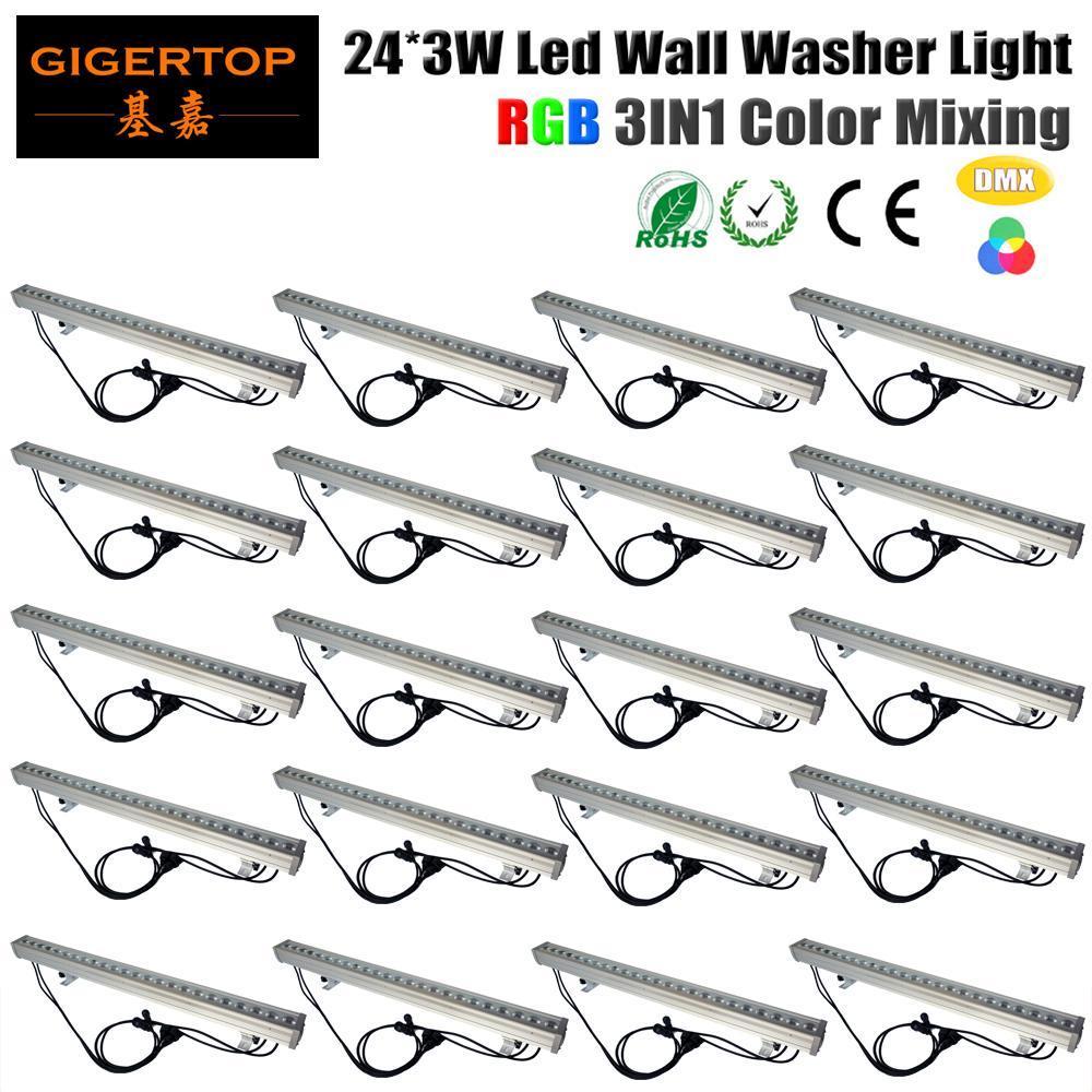 cgjxs İndirim Fiyatı 20 Birimler 24x3w RGB 3in1 Renkli DMX512 Sahne Led Duvar Boyama Işık Bahçe Yard Açık Meydan Taşkın Peyzaj Aşağı Işık