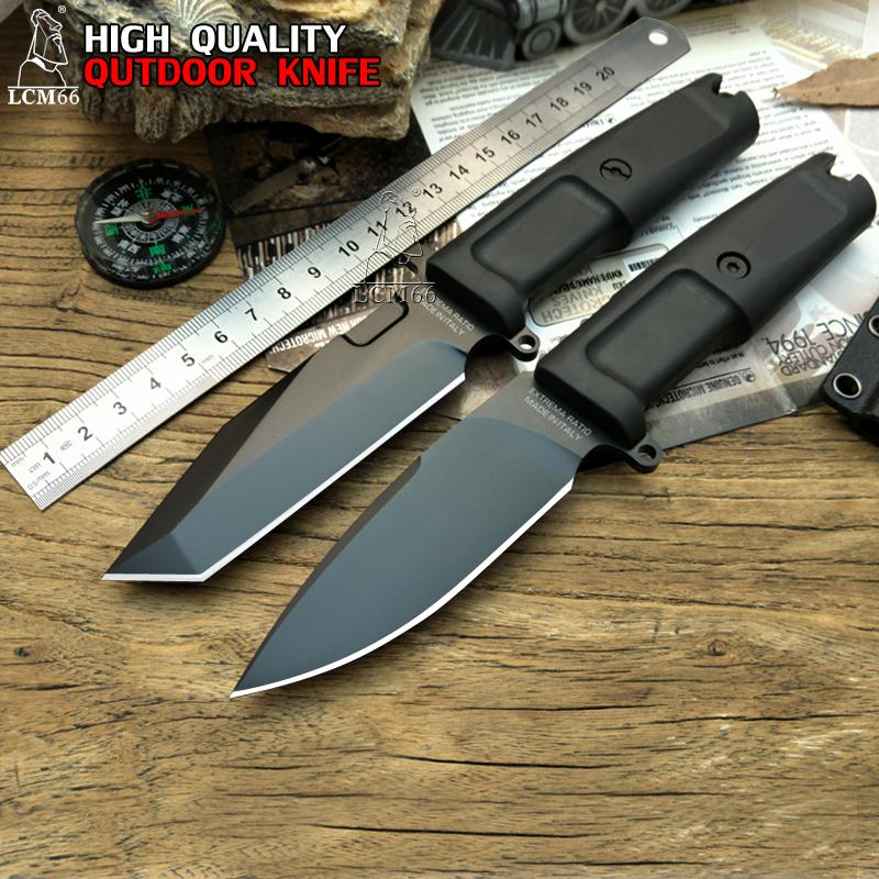Extrema Ratio FULCRUM TESTUDO high quality Fixed Blade Knife 7Cr17Mov Blade TPR Handle Hunting tool Camping knife outdoor Survival tool
