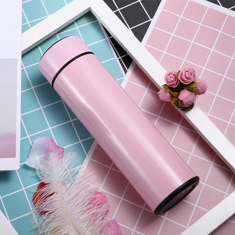 Smart Mug Temperature Display Vacuum Stainless Steel Water Bottle Kettle Thermo Cup With LCD Touch Screen Gift Cup sea ship EWE2499