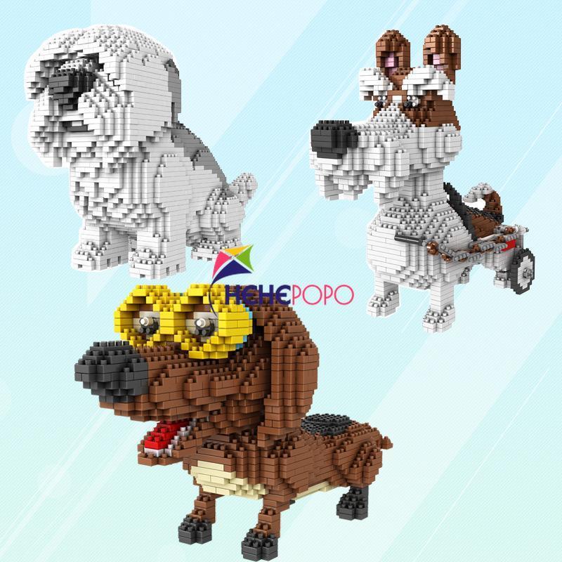 1650pcs Блок здания Игрушка Модель семьи Pet Блок Particles для животных 686 Алмазные Дети Micro Креативный собаки подарков IVjRi ly_bags