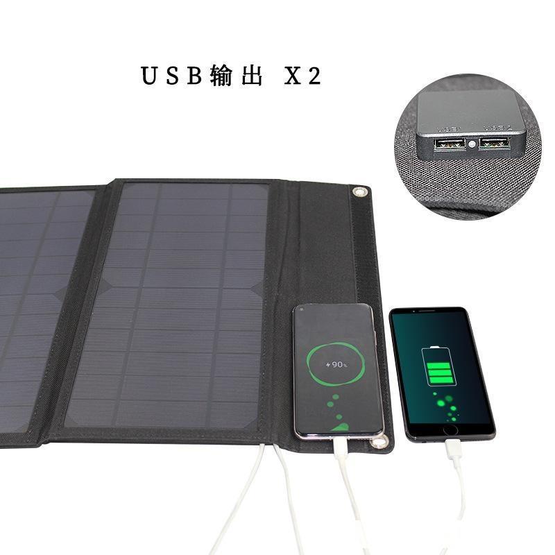 Plegable solar SunPower Bolsa de Carga 30W al aire libre móvil Energía Solar Fotovoltaica de carga del teléfono Junta