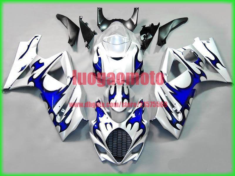 Injection fairings kit+7 Free gifts for SUZUKI K7 GSXR1000 GSXR 1000 07-08 SUZUKI GSXR1000 2007-2008 K7 ABS bodywork #BLUE FLAME #E72T3