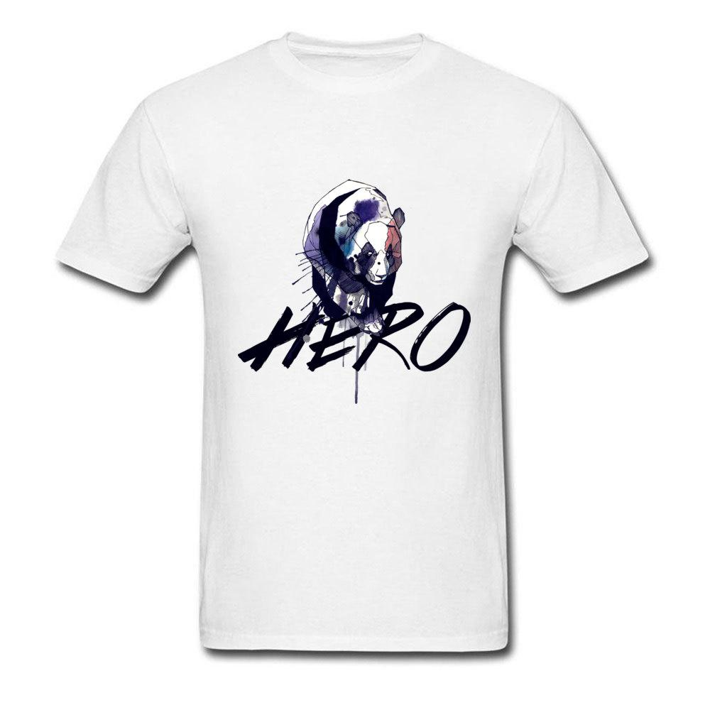 Big Discount col rond automne T-shirt de coton pour hommes confortable T-shirts pour hommes T-shirt Hero Drop Shipping T-Shirts