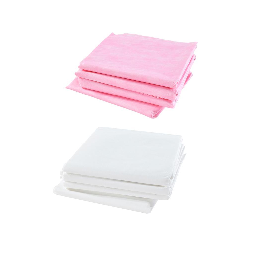 40pcs (Blanc Rose) Tableau Anti-Microfibre huile jetables massage imperméables feuille Draps, Chaise Facial fartage Couvre matelas protecteur