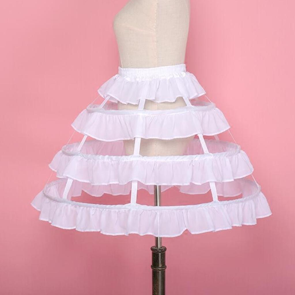 Bola de casamento Chiffon Vestido Hoop Petticoat Acessórios Crinoline nupcial