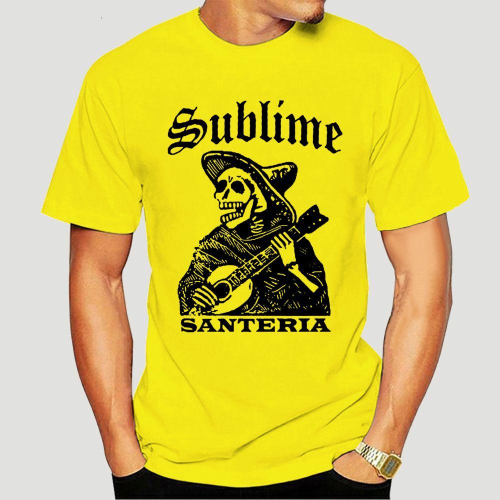 Harajuku Streetwear Shirt Men Santeria Скелет Футболка S 2XL New Official Live Nation Merchandise-4816D