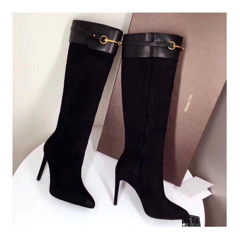 Chanel 2020 kış bayanlar yüksek kalitede aşırı diz çizmeler siyah deri yenilikçi olmazsa olmaz trendy moda eşleştirme açık Girly kadın topuk Heig