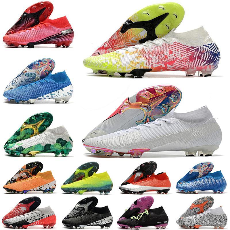 2020 رجل chuteiras زئبقي ال superfly السابع 7 النخبة متماسكة 360 FG CR7 كرة القدم أحذية النساء والأطفال الصبي المرابط عالية في الكاحل لكرة القدم أحذية EUR35-45