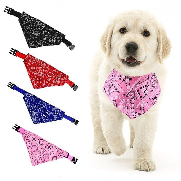 قابل للتعديل الياقة الحيوانات الأليفة مطبوعة المثلث الحيوانات الأليفة وشاح للشركات الصغيرة الكلاب القطط الكلب باندانا Neckchief
