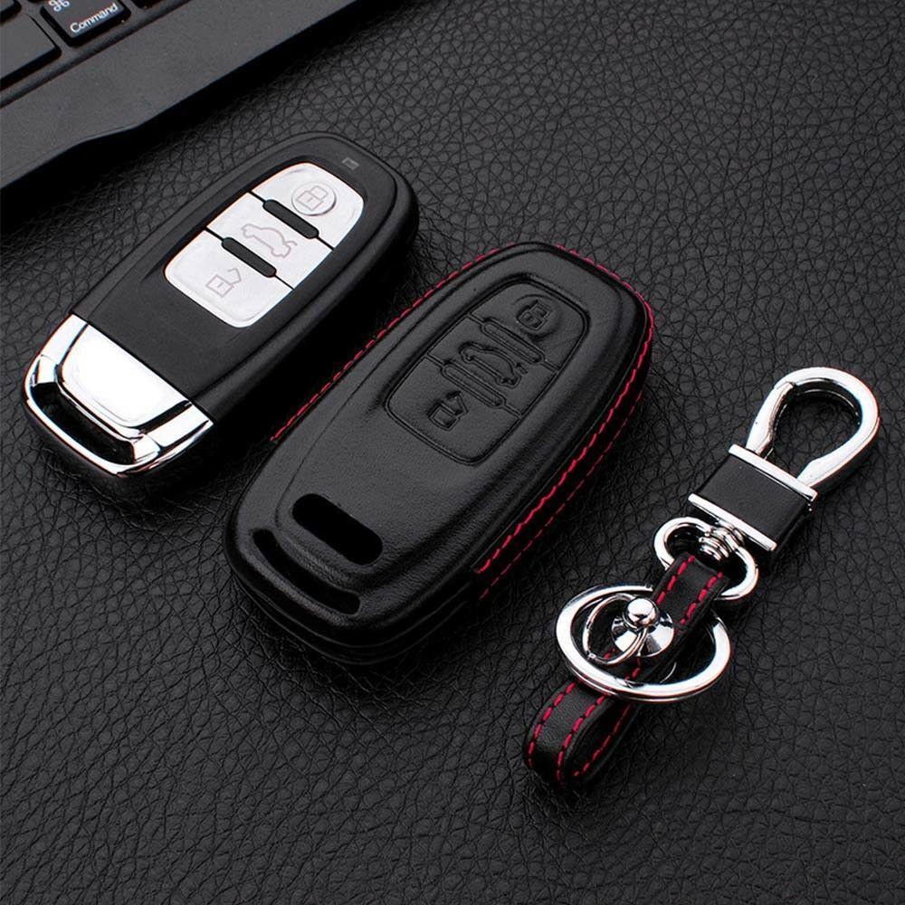 لأودي A1 A3 A4 A5 S1 A6 A4L A6L B6 B7 B8 TT 2005-2013 جلدية أهم حالة تغطية مفتاح الاكسسوارات مشبك السيارة