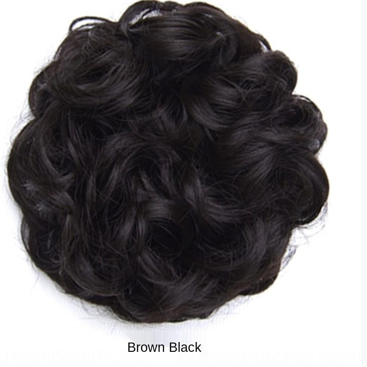 qF3bh Rubber rope elastic curly Ring wig wig hair ring large curling bridal hair style 15g