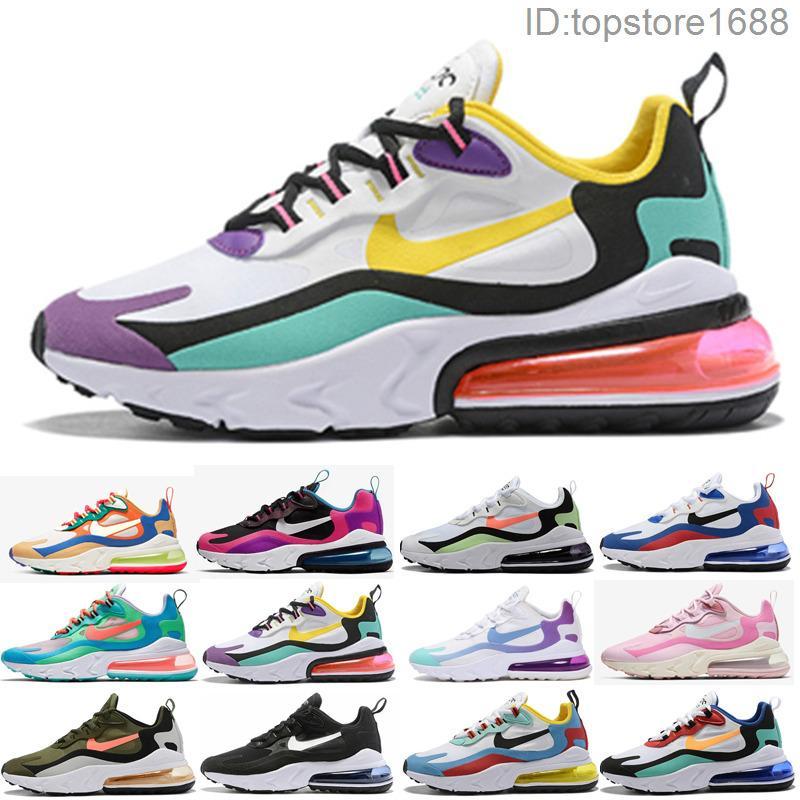 Nike Air Max 270 V2 React 270 hombres reaccionan eng zapatos corrientes triples bauhuas blanco y negro hombre al aire libre para mujer ópticos entrenadores deportivos zapatillas