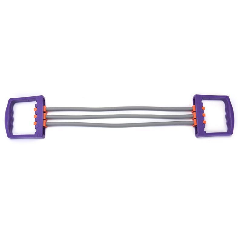 Profesión elástico resistencia de la aptitud de la banda de goma Extensor de pecho ajustable tirador de Crossfit ejercicio del deporte de interior del entrenamiento muscular