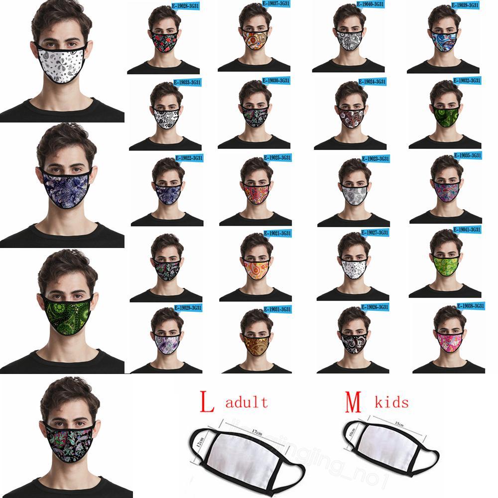Paisley ağız kapak yıkanabilir yetişkin çocuklar maskeleri CYF4294 toz geçirmez Kaju çiçek şerit 3D dijital baskı maskesi maske baskılı