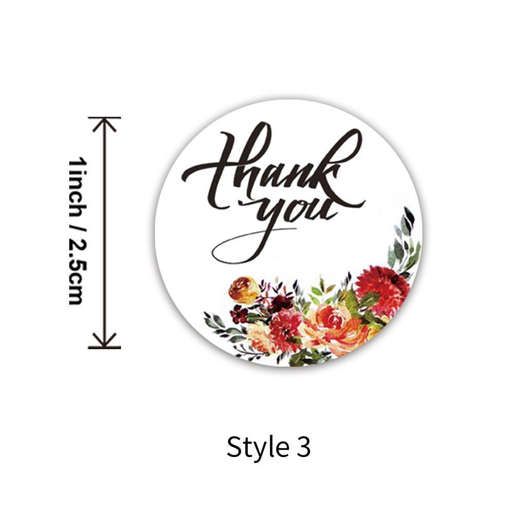 Etiquetas Wedding Stationery Stickers rolo Decoração Envelopes Etiquetas da flor agradece Rodada 500pcs Seal Você 2,5 centímetros Partido FplZu bde_luck