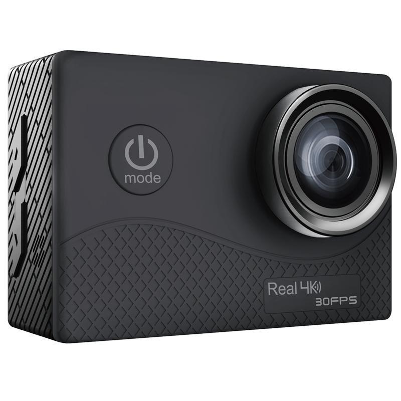Spor Aksiyon Video Kameralar Q6H Ultra HD 4 K Kamera 2 inç TFFT İletişim SN WIFI Su Geçirmez DVR Dahili Çift ISS 30FPS 1050 mAh Pil 10