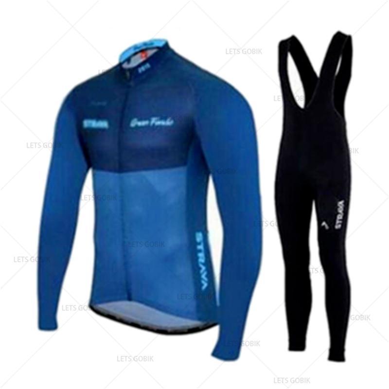 Ralvpha Primavera Outono Pro Cycling Team Kits Jersey Mens manga comprida Ciclismo pano respirável MTB Roupa de bicicleta