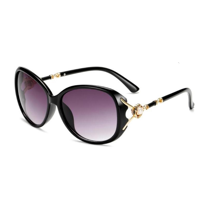 MANTENIMIENTE DE VERANO Gafas de sol Gafas Sol Drandas Diamante Diamante Plástico Mujeres Oval Marco Gradiente Playa Mujer Eyewear Vltor