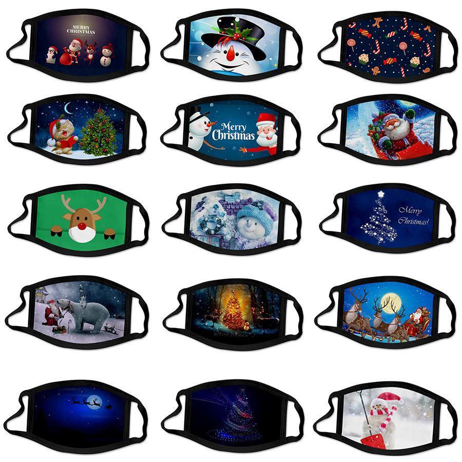 personalizado Natal 2021 ANO NOVO adulto máscaras máscara masque natal decorações desenhos animados do miúdo mascherina algodão reutilizável lavável navio livre