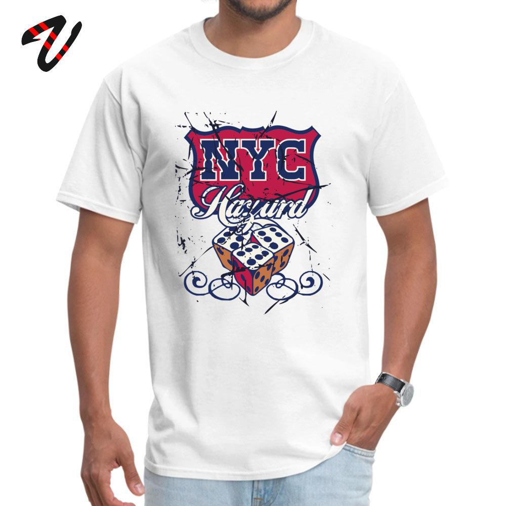 Old School Männer T-Shirt New York City T-Shirts Art und Weise 100% Baumwolle Adult Street Slim Fit Nyc Tops Tees Dice Sweatshirts