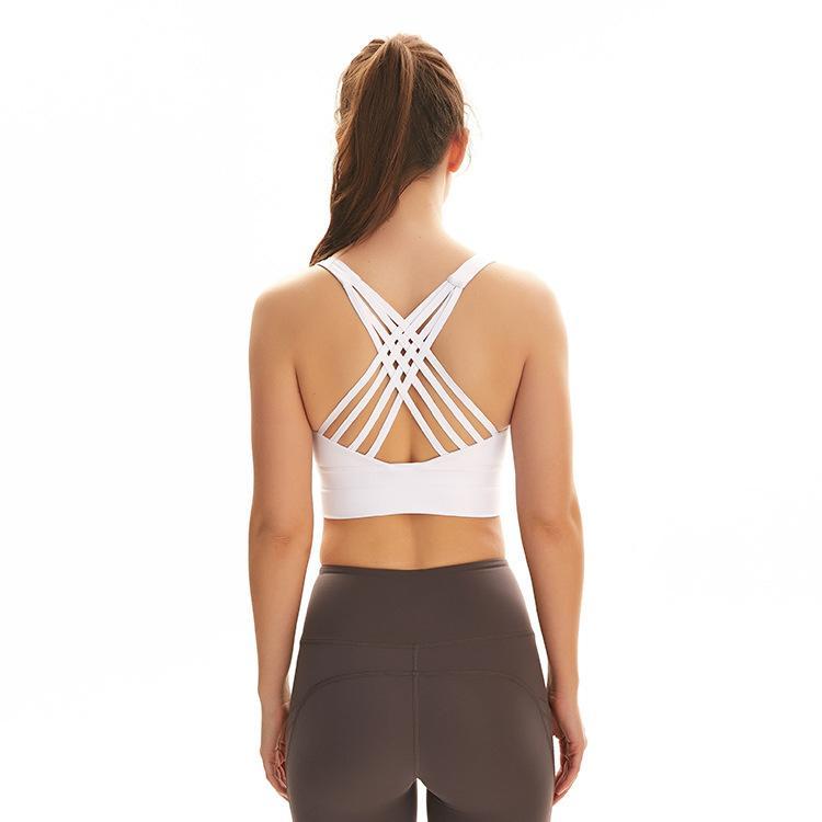 lu ropa sujetador deportivo yoga xiaobaigou gimnasio Mujeres agradable a la piel a prueba de golpes lu acero corriendo desnuda ejercicio físico sujetador ropa interior sin anillo