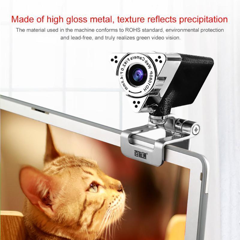 Camcorders Aoni Full HD 1080P настольный компьютерный компьютерная камера с шумоподавлением Mic USB бесплатный диск видео ноутбук веб-камеры сетевой курс